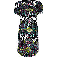 Black Chelsea Girl print shift dress