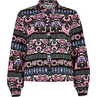 Black Chelsea Girl floral print blouse