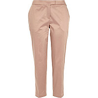 Light pink cropped cigarette pants