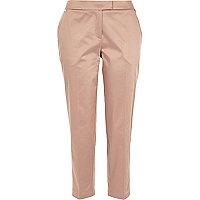 Light pink cropped cigarette pants