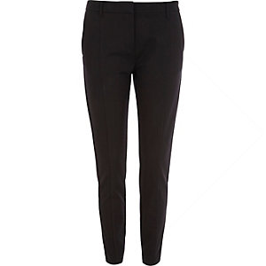 Black slim tailored smart trousers