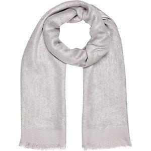 Silver metallic sparkle scarf