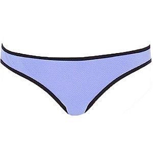 Light purple textured bikini bottoms