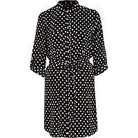 Black spotty shirt dress