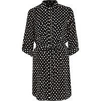 Black spotty shirt dress