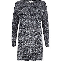 Grey side split tunic