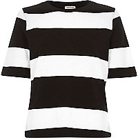 Black and white stripe t-shirt