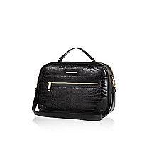 Black croc travel bag
