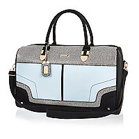 Blue split colour weekend bag