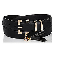 Black RI tassel belt