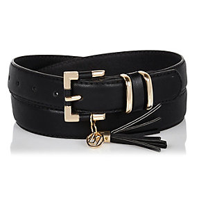 Black RI tassel belt