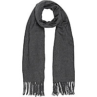 Grey supersoft blanket scarf