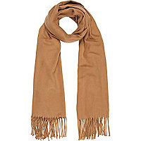 Brown supersoft blanket scarf