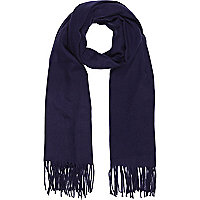 Navy supersoft blanket scarf