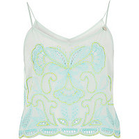 Light Green Pacha embellished cami top