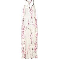 Pink Pacha tie dye print maxi dress