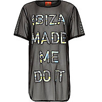 Black Pacha Ibiza made me do it mesh t-shirt