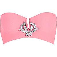 Pink Pacha gem embellished bikini top