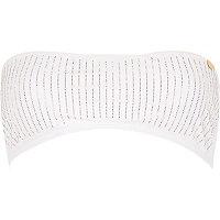 White Pacha heatseal embellished bikini top