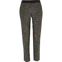 Grey tweed cigarette pants