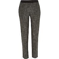 Grey tweed cigarette pants