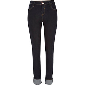Dark wash turn up Amelie superskinny jeans