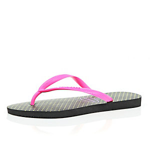 Pink Havaianas flip flops