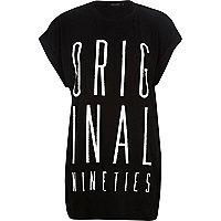 Black original 90s print oversized t-shirt