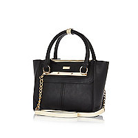 Black winged mini tote bag