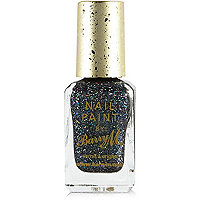 Rockstar blue Barry M glitter nail polish