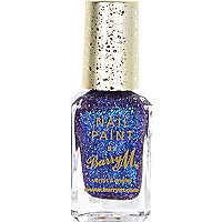 Fashion Icon blue Barry M glitter nail polish