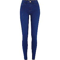 Bright mid blue Molly jeggings