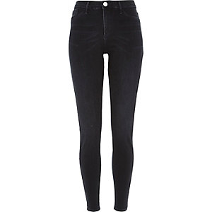 Dark blue black wash Molly jeggings