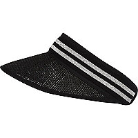 Black sporty striped visor