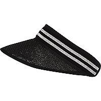 Black sporty striped visor