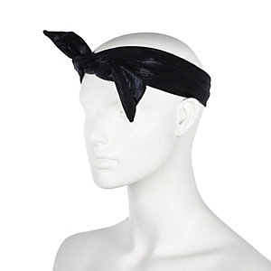 Black knotted wired hair wrap