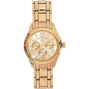 Gold tone glamorous watch