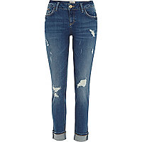 Denim distressed Daisy slim jeans