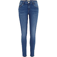 Intense blue wash Amelie superskinny jeans
