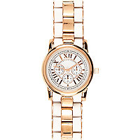 White and gold tone Roman numerals watch