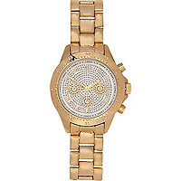 Gold tone glitter face watch