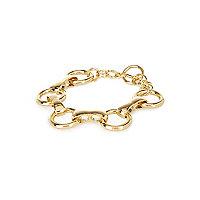Gold tone chain link bracelet