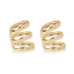 Gold tone ear cuffs pack