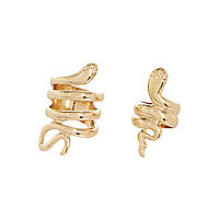 Gold tone snake ring 2 pack