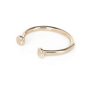 Gold tone chunky clean cuff bracelet