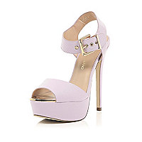 Light purple platform sandals