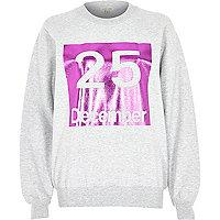 Grey 25 December print sweatshirt