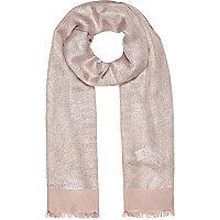 Pink metallic sparkle scarf