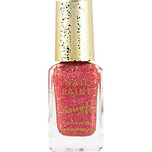 Starlet red Barry M glitter nail polish