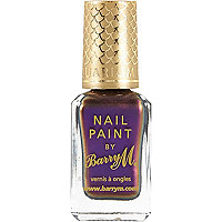 Persian purple Barry M aquarium nail polish